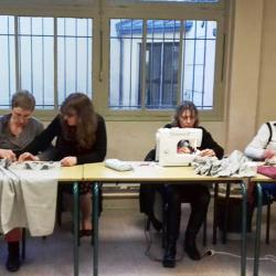 2017 Atelier couture - Au travail sur les jupons