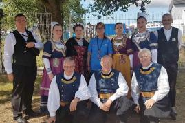 Fil 2017 la delegation des musiciens et danseurs du cckb