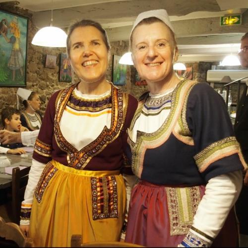 Soaz et Clotilde heureuses